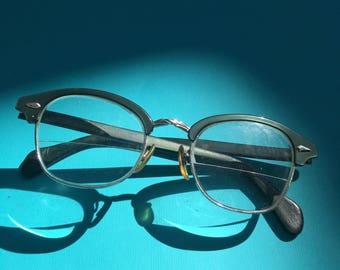 Cat Eye Glasses, Teal Cat Eye Glasses, American Optical Eyeglasses, AO Cat Eye Glasses,  Vintage Cat EyeGlasses, Vintage Eyeglasses, Retro
