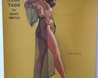 Vintage 1951 Pinup Calendar by Showalter