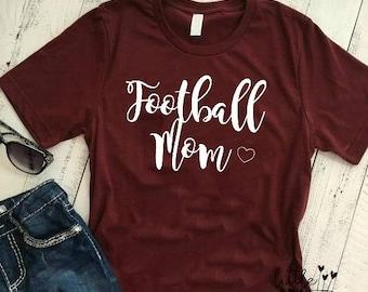 Football Mom T-shirt-Football Mom w/Heart-SALE