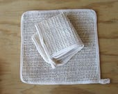"Eco friendly, all natural washcloth. 10"" woven Sisal washcloth, washable, gentle exfoliation"