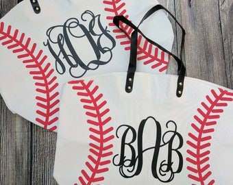 monogrammed baseball tote bag, baseball bag, custom baseball bag, monogrammed baseball bag, baseball mom bag