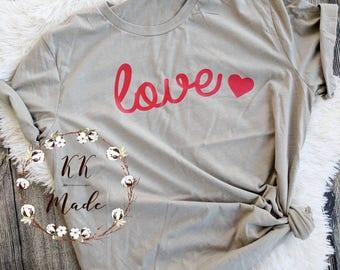 Women's Valentine's day shirt, weekends love shirt, unisex love shirt, love with heart shirt, soft Valentine's day shirt