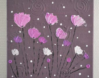 pink flowers, painting abstract painting contemporary pink/taupe, romantic table