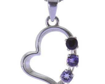 Iolite Pendant, 925 Sterling Silver. color blue, weight 1.5g, #34325