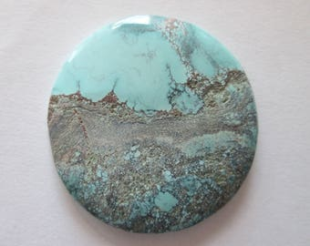 42.50 ct. 100% Natural Chinese Qingu 680 Turquoise Cabochon, # EH 017