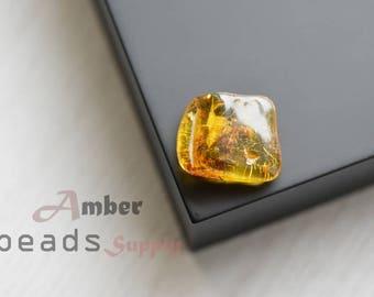 Baltic amber stone, jewelry making, amber beads, polished amber stone, 1 piece. 2520/20