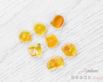 2498/10 // Baltic Amber Beads, 7 pc