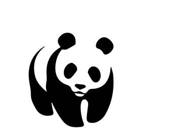 Panda Sticker, wild animal, zoo, panda bear, wwf