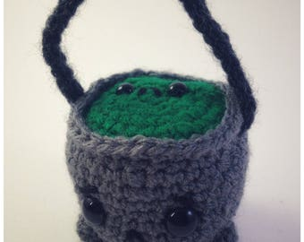 sad hallowe'en cauldron friend (made to order)