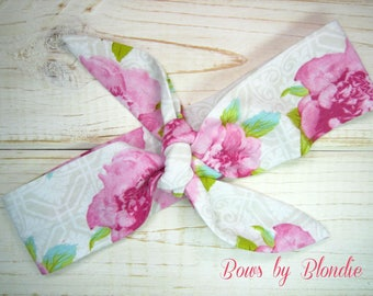 Knotted Baby Headband in Vintage Floral print!