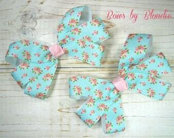 Vintage Floral Mini pigtail set!