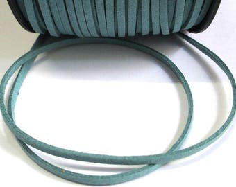 1 m cord Suede Blue 1 3 mm