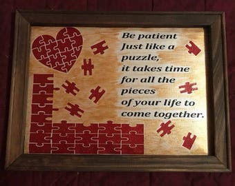 Reverse Canvas Puzzle Quote