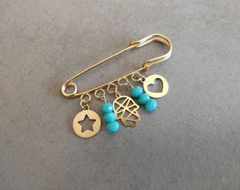 Baby Pin, Baby Stroller Pin Hamsa, Baby Carriage Dangle Pin, Protective Hamsa Pin Charm, Stroller Pin Charms, Baby Shower Gift, Baby Gift