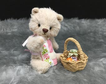 "Artist Bear  ""Mela""- Teddy bear OOAK 3.5"""