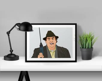 Uncle Buck John Candy Illustrated Poster Print | A6 A5 A4 A3
