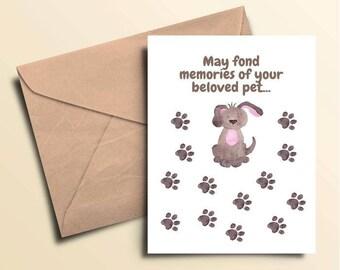 Family Dog Condolence Card