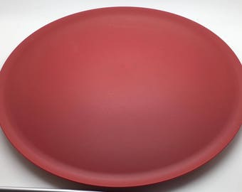 """Tupperware  Allegra Radiance Lid 6218 9 1/2 """" Red Replacement Seal Cover"""