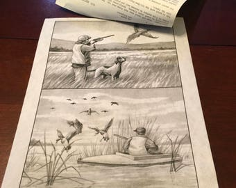 Tri Chem Pictures To Paint Paint By Numbers  8558  Hunting Scene  Duck Hunting Shooting Hunter Lake Pond Man Cave Country Rustic