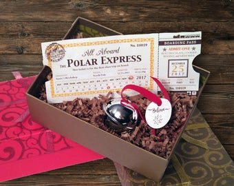 2017 Polar Express Train Ticket & Bell
