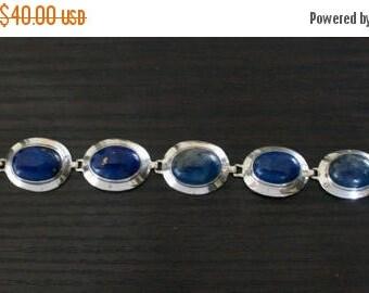 ON SALE Elegant Lapis Lazuli Silver Bracelet