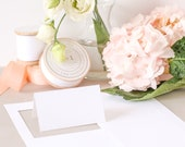 White Place Card Paper, Folded Place Cards, Printable Place Card Stock, White Card Stock, LASER or INKJET, Everly Paper, No. 7 | 5 sheets