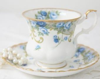 Vintage Royal Albert Bone China Sheraton Series 'Angela' Cup and Saucer, Lady Size, England