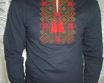 Ukrainian Embroidered Long sleeve (vishyvanka),shirt with new ornament, best price!!!