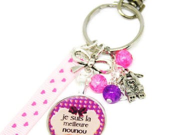 Keychain / bag charm, I'm the best nanny