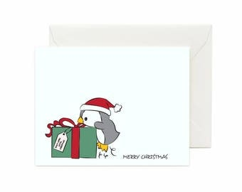 "Penguin ""Merry Christmas"" Greeting Card"
