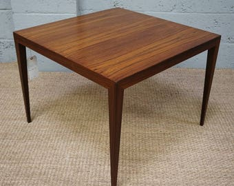 Vintage Danish Rosewood Square Coffee Table