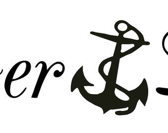Lake Life Anchor Window Wall Decal Truck Trailer Boat Tackle