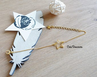 Thin bracelet minimalist metal Golden Star chic gift cheap