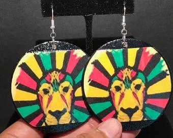 Rasta Lion Earrings