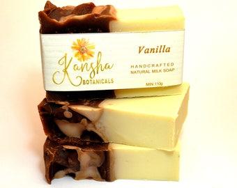 Vanilla Soap Australia, Vegan Soap,  Palm Oil Free Soap, Coconut Milk Soap, Made in Melbourne Australia