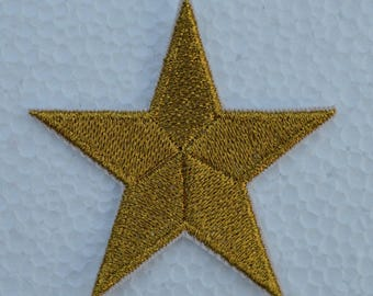 embroidered star on wire metalisse 5.5 cm