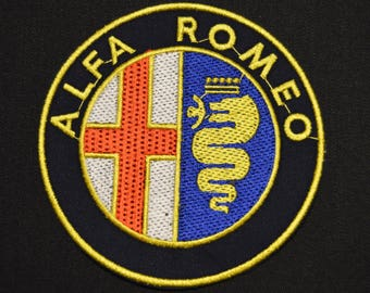 alpha romeo embroidered badge