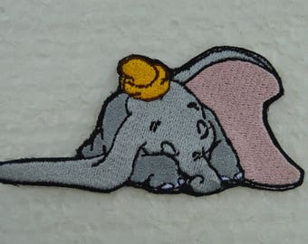 fusible dumbo embroidered badge