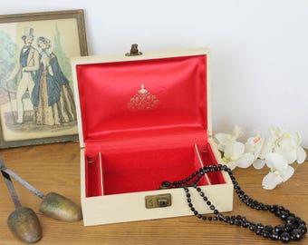 Vintage Jewellery Box/Leather Jewellery Box/Jewellery Box (Ref1961P)