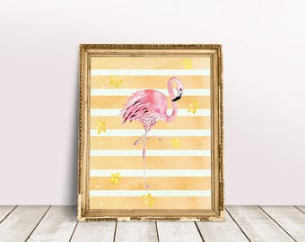 Flamingo Nursery | Flamingo Wall Art, Flamingo Baby Room, Flamingo Printable, Flamingo Clip Art, Flamingo Print, Flamingo Art