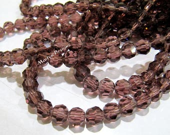 SALE- Garnet Color Hydro Quartz 6mm Size Beads , Rondelle Faceted approx. 100 Beads per Strand , Jewelry Beads in Wholesale Price.