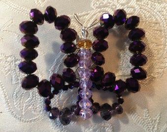 Purple Butterfly Pendant