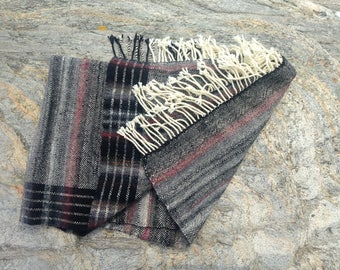 Handwoven Twill Throw Blanket- Bold Neutrals