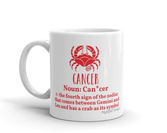 Cancer Star Sign Mug
