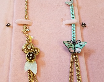 Vintage Juicy Couture Butterfly Necklace, Juicy Couture, Butterfly Necklace