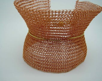 Silver Plated copper bracelet Orange