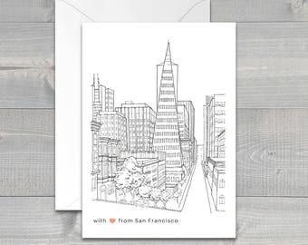 Valentine SALE San Francisco Transamerica Pyramid Greeting Card