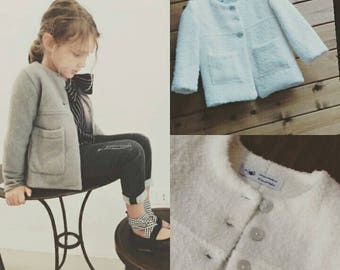 Tailored wool coat for baby