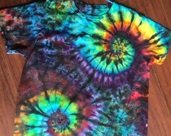 L Double Rainbow Before Dusk Ice Dyed Tie Dye T-Shirt