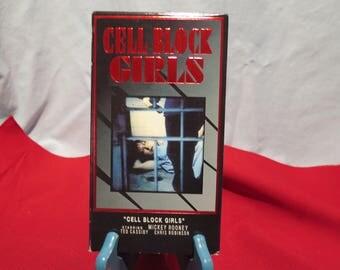 Cell Block Girls VHS Rare 1995